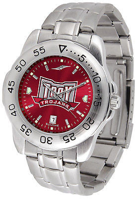 Troy University Men's Stainless Steel Sports AnoChrome Watch