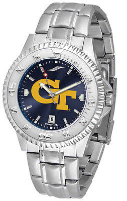 Georgia Tech Men's Competitor Stainless Steel AnoChrome Watch