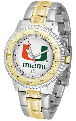 Miami Hurricanes Competitor Two Tone Stainless Steel Men's Watch