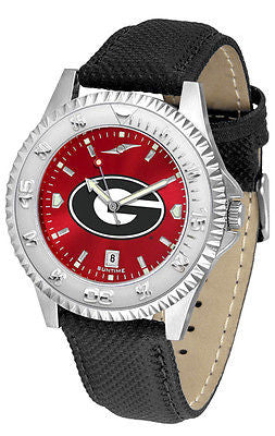 Georgia Bulldogs Men's Competitor AnoChrome Leather Band Watch
