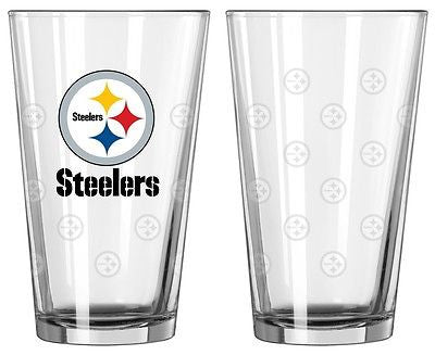 Pittsburgh Steelers Etched Pint Glass Set