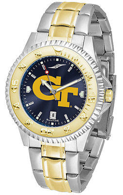Georgia Tech Men's Competitor Stainless Steel AnoChrome Two Tone Watch