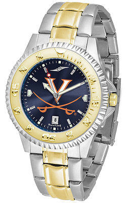 Virginia Cavaliers Men's Competitor Stainless Steel AnoChrome Two Tone Watch