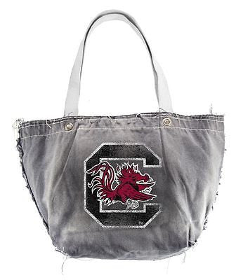 South Carolina Gamecocks Light Gray Distressed Vintage Tote