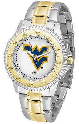 West Virginia Mountaineers Competitor Two Tone Stainless Steel Men's Watch
