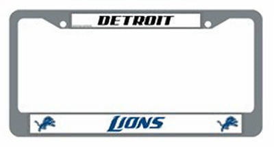 Detroit Lions Chrome Auto Tag Frame