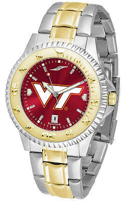 Virginia Tech Men's Competitor Stainless Steel AnoChrome Two Tone Watch
