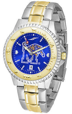 Memphis Tigers Men's Competitor Stainless Steel AnoChrome Two Tone Watch