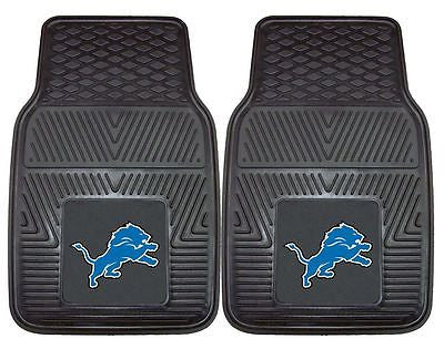 Detroit Lions Vinyl Auto Floor Mats Set of 2