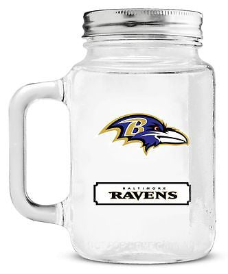 Baltimore Ravens 20oz. Team Logo Mason Jar