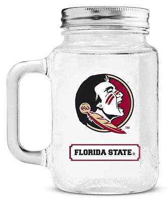 Florida State Seminoles 20 oz. Mason Jar