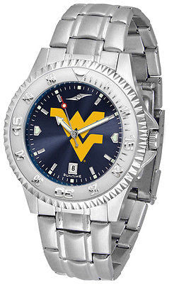 West Virginia Mountaineers Men's Competitor Stainless Steel AnoChrome Watch