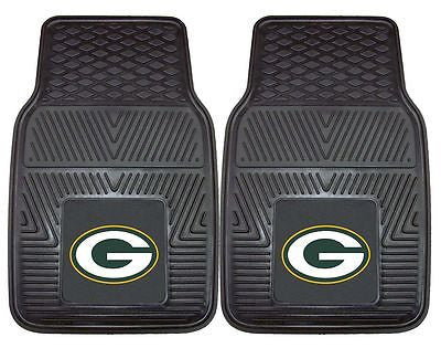 Green Bay Packers Vinyl Auto Front Floor Mats Set of 2