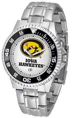 Iowa Hawkeyes Men's Competitor Stainless Steel AnoChrome with Color Bezel Watch