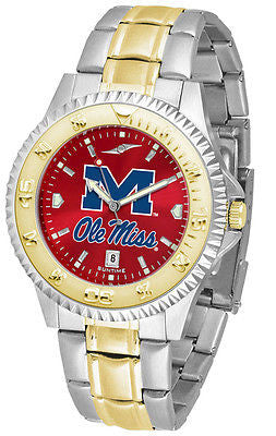 Mississippi Ole Miss Rebels Men's Competitor Stainless Steel AnoChrome Two Tone Watch