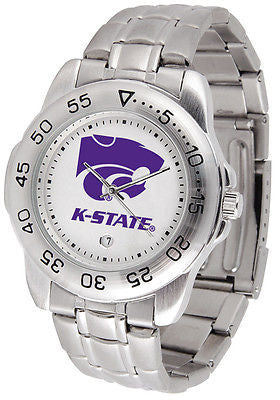 Kansas State Men's Sports Stainless Steel Watch