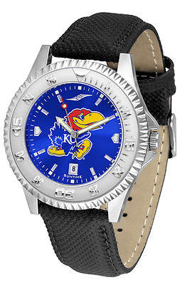Kansas Jayhawks Men's Competitor AnoChrome Leather Band Watch