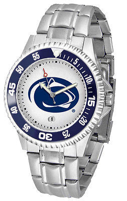 Penn State Men's Competitor Stainless Steel AnoChrome with Color Bezel