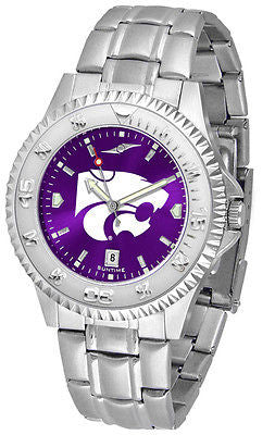 Kansas State Wildcats Men's Competitor Stainless Steel AnoChrome Watch