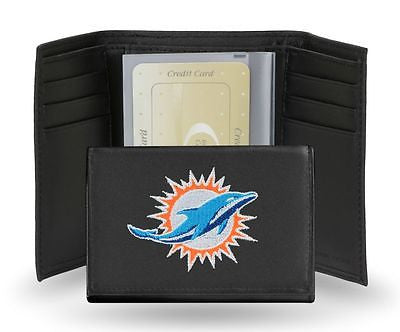 Miami Dolphins Embroidered Men's Tri Fold Wallet