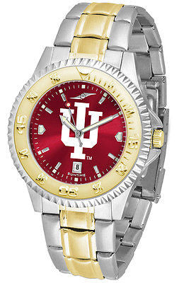 Indiana Hoosiers Men's Competitor Stainless Steel AnoChrome Two Tone Watch