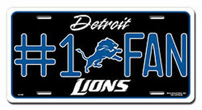 Detroit Lions Metal Car Tag