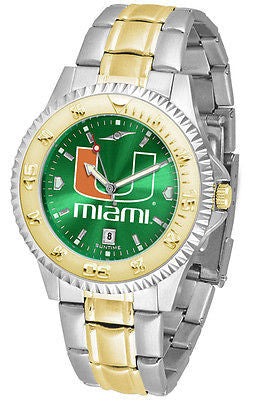 Miami Hurricanes Men's Competitor Stainless Steel AnoChrome Two Tone Watch