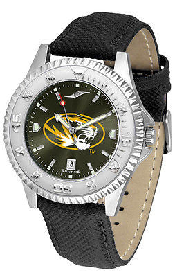 Missouri Tigers Men's Competitor AnoChrome Leather Band Watch