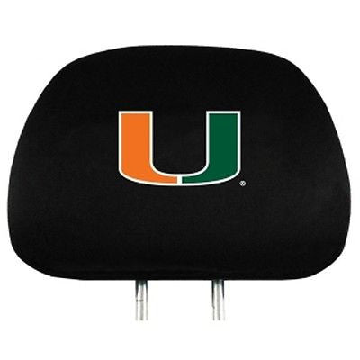 Miami Hurricanes Headrest Covers (OUT OF STOCK)