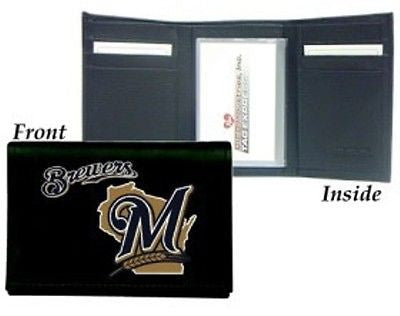 Milwaukee Brewers Men's Tri Fold Wallet (OUT OF STOCK)