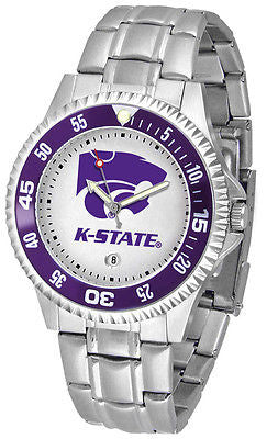 Kansas State Men's Competitor Stainless Steel AnoChrome with Color Bezel Watch