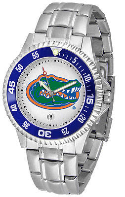 Florida Gators Men's Competitor Stainless Steel AnoChrome with Color Bezel Watch