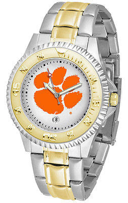 Clemson Tigers Competitor Two Tone Stainless Steel Men's Watch