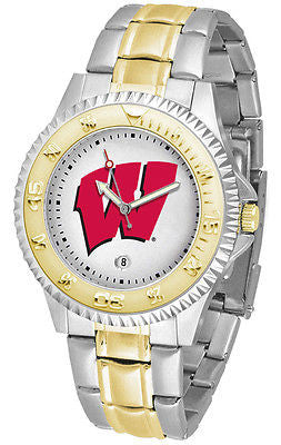Wisconsin Badgers Competitor Two Tone Stainless Steel Men's Watch