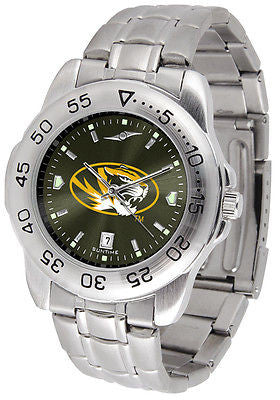 Missouri Tigers Men's Stainless Steel Sports AnoChrome Watch