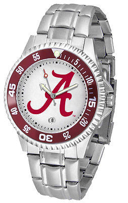 Alabama Men's Competitor Stainless Steel AnoChrome with Color Bezel Watch