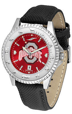 Ohio State Men's Competitor AnoChrome Leather Band Watch