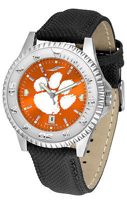 Clemson Tigers Men's Competitor AnoChrome Leather Band Watch