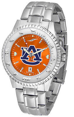 Auburn Tigers Men's Competitor Stainless Steel AnoChrome Watch