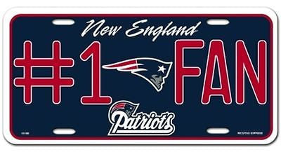 New England Patriots Metal Car Tag