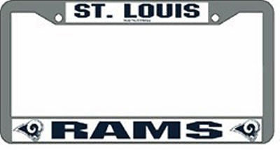 St. Louis Rams Chrome Auto Tag Frame