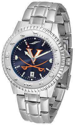 Virginia Cavaliers Men's Competitor Stainless Steel AnoChrome Watch