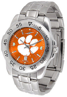 Clemson Tigers Men's Stainless Steel Sports AnoChrome Watch