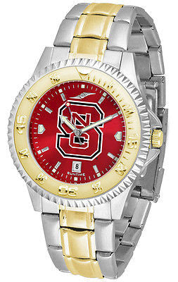 North Carolina State Men's Competitor Stainless Steel AnoChrome Two Tone Watch