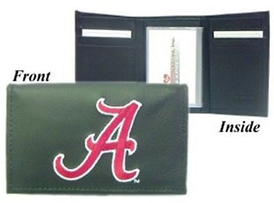 Alabama Crimson Tide Men's Tri Fold Leather Wallet