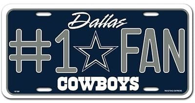 Dallas Cowboys Metal Car Tag