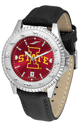 Iowa State Cyclones Men's Competitor AnoChrome Leather Band Watch