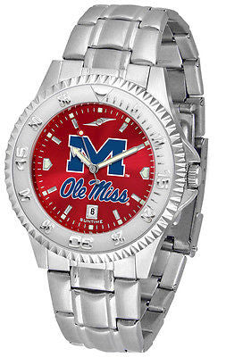 Mississippi Ole Miss Rebels Men's Competitor Stainless Steel AnoChrome Watch