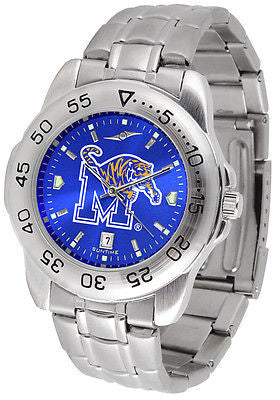 Memphis Tigers Men's Stainless Steel Sports AnoChrome Watch