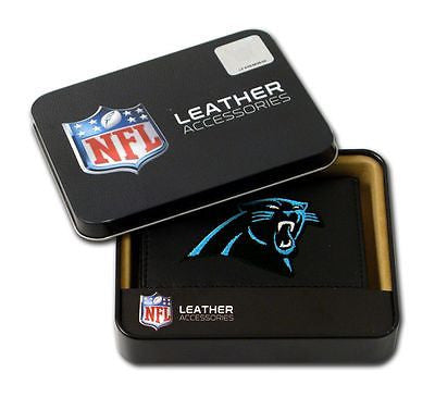Carolina Panthers Embroidered Men's Tri Fold Wallet